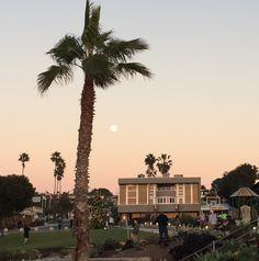 Moon over Fletcher Cove Park