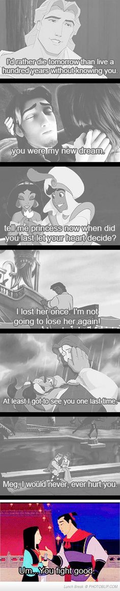 And Mulan represents the rest of our love lives.... Hahahahhahahahahah love this!!!!