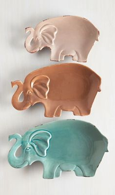 darling elephant party plate set