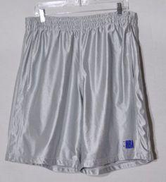 NBA-ELEVATION-Mens-Gray-Basketball-Shorts-Large-Mesh-Lining-Elastic-Drawstring