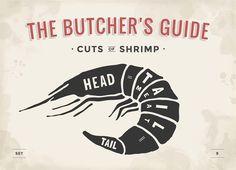Cut of meat set. Shrimp @creativework247