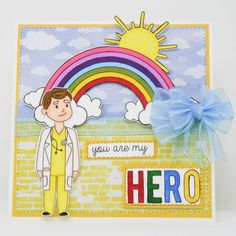 Crafter's Companion Photopolymer Stamp - Healthcare Heroes (Dispatching from May) Happy Crafters, You Are My Hero, Crafters Companion Cards, Get Well Wishes, Spectrum Noir, Clear Stamps, Mermaids, Fairies, Health Care