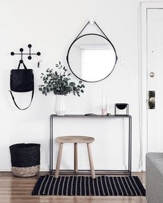 This entryway... yes, please . Shop @homeyohmy's scandi space by heading to the link in our profile! #mymodern #goals