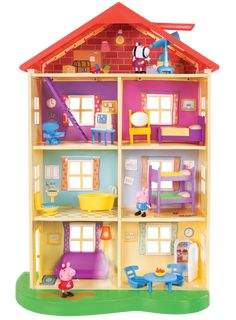 Peppa Pig Family Home Playset with Lights and Sounds : Target Little Girl Toys, Toys For Girls, Toys R Us, Buy Toys, Pig Family, Home And Family, Peppa Pig Familie, Familia Pig, Peppa Pig House
