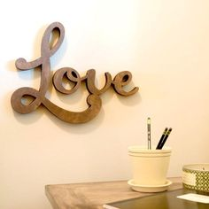 Love wooden wall decor