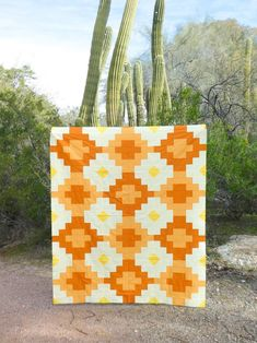 Orange Quilt, Yellow Quilts, Quilting Projects, Quilting Designs, Quilting Ideas, Modern Quilting, Sewing Projects, Quilt Modern, Patchwork Quilting