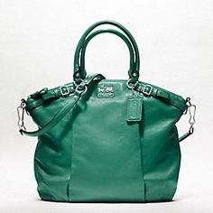 Definitely using my Coach Frequent Buyer code to purchase this MADISON LEATHER LINDSEY SATCHEL in Sea!