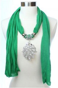 Royal Mark Trangle Charms Jewelry Scarf  Wholesale Cheap pendant scarves wholesale on www.jewelryscarfcanada.com