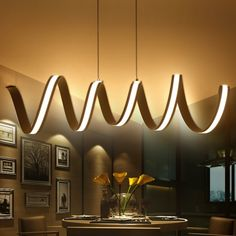 88.50$ Buy now - http://aliiiu.worldwells.pw/go.php?t=32679524858 - Modern LED Hanging Lamps Dinning Living Room Pendant Lights Lampe Lamparas Modern Pendant Lamp for Kitchen Suspension Luminaire 88.50$