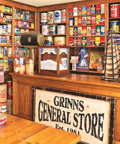 Large pantry/Storeroom decorated like a country general store