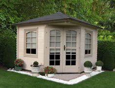 5-Eck Gartenhaus Modell Victoria B 40