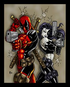 Deadpool and Domino | Deadpool and Domino by ~Jrascoe on deviantART