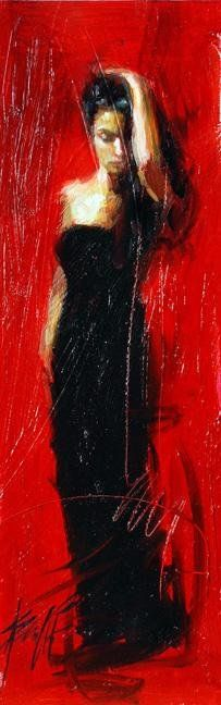 """Scarlet Beauty"" by Henry Asencio #ValentinesDay #red #art"