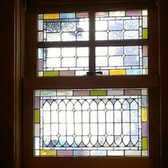 Craftsman stained glass- love the bottom design, it reminds me of the arches in Gothic architecture