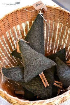 boiled wool, sweater, boil wool, christma tree, basket, tree wwwhomeroadnet, christmas trees, christmas tree ornaments, wool christmas ornaments