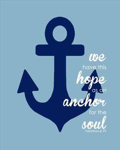 Hebrews 6:19~Nautical bathroom