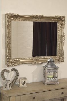 This Large Ivory Ornate Style Wall Mirror Is The Perfect Classic Fascinating Decorative Mirrors Dining Room Decorating Inspiration