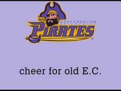 ECU - East Carolina University Pirates - fight song with words - E. C. Victory
