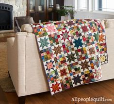 Star Quilts, Scrappy Quilts, Quilt Blocks, Baby Quilts, Star Blocks, American Patchwork And Quilting, Scrap Quilt Patterns, Signature Quilts, Log Cabin Quilts