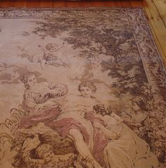 beautiful antique tapestry