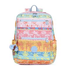 Caity Printed Backpack - Fun in the Sun | Kipling