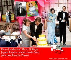 Let us tell the story of your wedding day through a unique and very personal Wedding Photo Collage Puzzle. Find out more at Jigsaw2order.com #photo #collage #puzzle