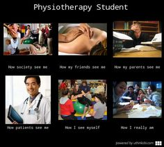 Physiotherapy student - What people think I do, What I really do