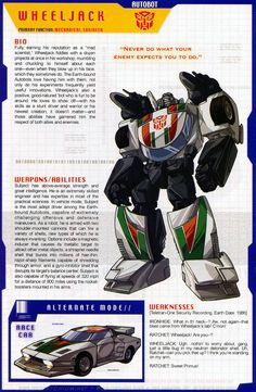 Transformers Universe - Gallery: G1 Wheeljack<<< one of my favorite Autobots :)