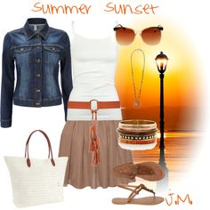 Cute AND affordable - Summer Sunset, created by jenniemitchell
