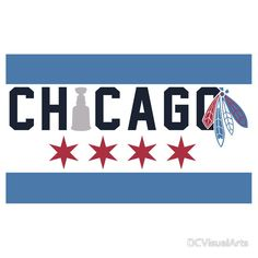 Chicago Flag Inspired by DCVisualArts