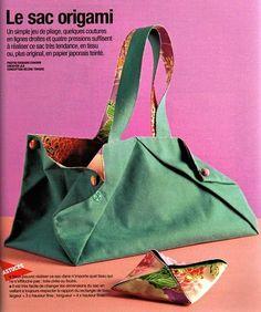 Crochet enchanté: Le sac origami á coudre