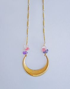 This site has super cute stuff!!   Circe Amethyst Crescent Necklace — Eclectic Eccentricity Vintage Jewellery