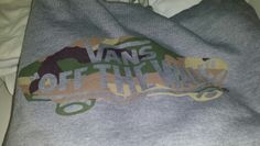 Hood Hoody. #vans #offthewall #camo #hoody #fashion #threads #skater