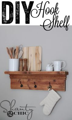 Visit your local Home Depot store on 8/20 to learn how to make this easy Hook Shelf!