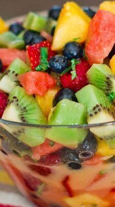 Mixed Fruit with Lemon-Basil Dressing Recipe on Yummly Poppy Seed Fruit Salad, Clean Eating Recipes, Healthy Recipes, Healthy Options, Healthy Desserts, Healthy Eats, Honey Lime Dressing, Fruit Salad Recipes, Fruit Salads