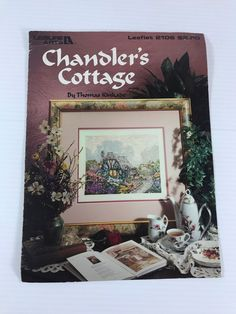 COTTAGE CROSS STITCH PATTERN, Thomas Kinkade Cross Stitch, counted cross stitch #LeisureArts