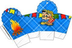 Caixa Cupcake Festa Junina: