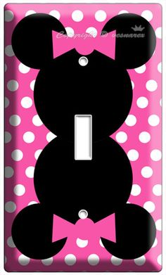 MINNIE MOUSE PINK POLKA DOTS POWER OUTLET WALL ...