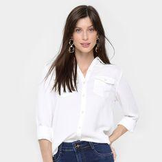 1526356bdd Camisa Aishty Manga Longa Bolsos Feminina - Off White  CLIQUE EM VISITAR