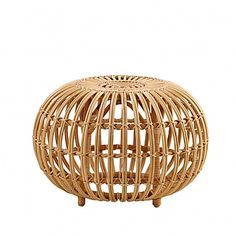 In 1951, Franco Albini designed an ottoman made of rattan, which is an original, artistic and elegant piece of furniture. The design of the ottoman is timeless and is today more relevant than ever, due to the ecological sustainability of the material ra…
