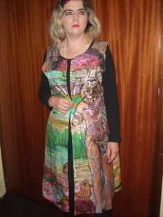handpainted long silk-vest size M. - pinned by pin4etsy.com