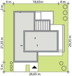 DOM.PL™ - Projekt domu TP Artus 2 CE - DOM TP2-17 - gotowy koszt budowy Modern House Facades, Small House Design, Concept Architecture, Facade House, Home Design Plans, Tiny House, House Plans, Pergola, Floor Plans