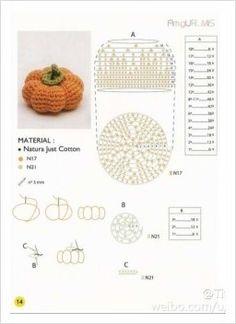 Love crochet Love craft added a new photo. Kawaii Crochet, Crochet Gratis, Crochet Chart, Crochet Blanket Patterns, Crochet Dolls, Crochet Stitches, Crochet Fish, Crochet Fruit, Crochet Pumpkin