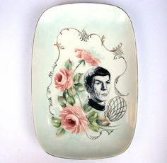 Spock Portrait Plate - Altered Antique Plate