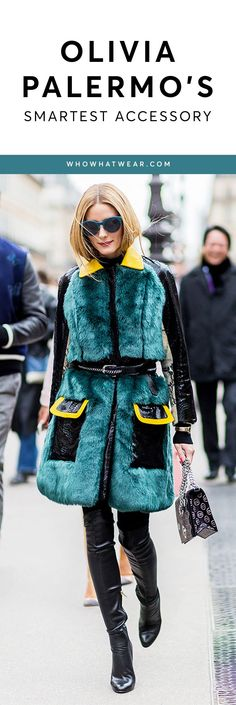 How Olivia Palermo belts every outfit