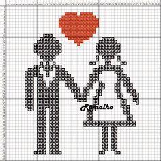 Wedding cross stitch.