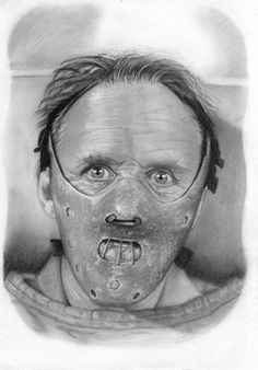 Dr Hannibal Lecter by MiisterH on DeviantArt Horror Movie Tattoos, Horror Movie Characters, Horror Movies, Arte Horror, Horror Art, Hannibal Lecter, Dr Hannibal, Sick Drawings, Horror Drawing