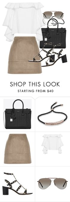 """Untitled #19692"" by florencia95 ❤ liked on Polyvore featuring Yves Saint Laurent, Monica Vinader, River Island, Alexis, Valentino, Tom Ford and Monki"