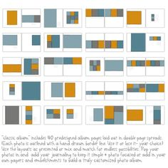 classic album templates-12x12
