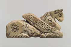 Head of a pin in form of a winged horse | Iran | Iron Age II | The Met